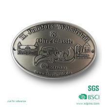 Подгонянный сплав цинка старинное серебро Пряжка пояса металла для подарка (хD-08253)