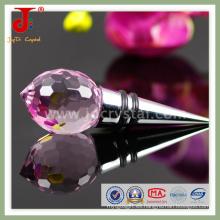 Tapón de botella de vino de cristal para regalo de boda (JD-WS-407)