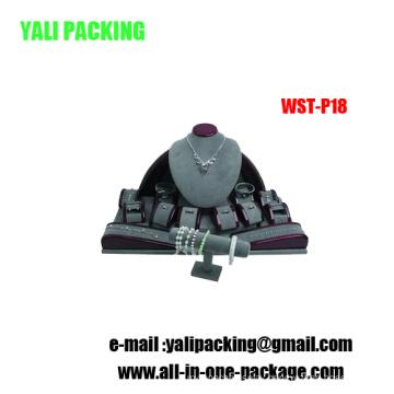 Grey Suede Coating Jewelry Display Platform Wholesale (WST-P18)