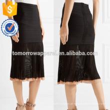 Nova moda com nervuras de malha e Bandage saia de lápis DEM / DOM fabricação atacado moda feminina vestuário (TA5121S)