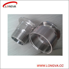 Sanitary Stainless Steel Forged Tri Clamp Threaded Adapter