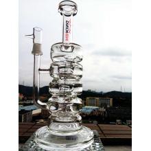 Venta al por mayor 13inch 5mmthickness Recylce de vidrio de fumar pipa de agua