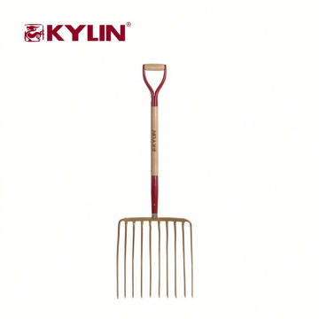 Factory Supplier Long Handled Gardening Digging Spading Steel Fork