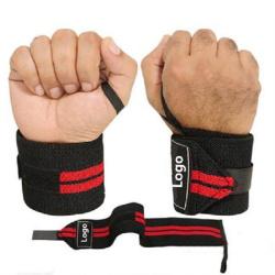 Gym sport custom weightlifting wrist wraps  fitness