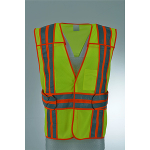 Police Security Green Breakaway Reflective Traffic Safety Vest