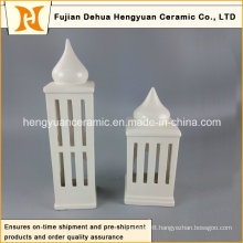 High Quality High-Rise Shape Ceramic Candle Holder House