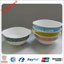 Vaisselle en céramique cernes ovales en céramique / grès blanc bols à pâtes / cuvette en terre cuite