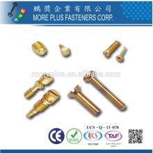 Made in Taiwan Bolts Brass Stainless MPF Parafusos De Latão Parafusos De Latão