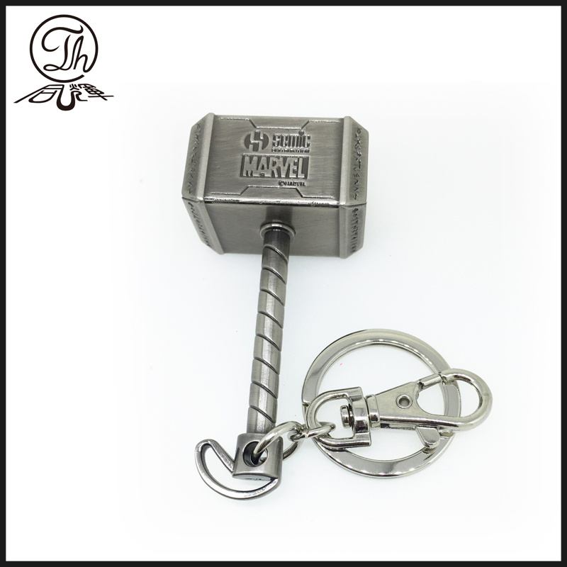 Marvel key ring with Thor Hammer metal key rings