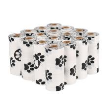Factory direct custom bulk black biodegradable printing compostable coloured keyrings  dog poop waste bags