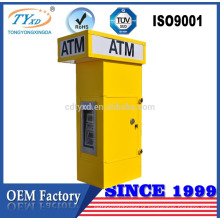 Caixa de quiosque para banco de equipamentos ATM para dispensador de dinheiro