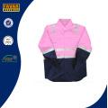 En471 Kinder Baumwolle Orange Gelb Pink High Vis Schutz Sicherheit Shirt