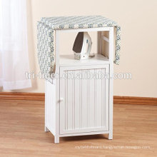 Cheap wooden folding ironing board storage cabinet Chinese factory wholesale