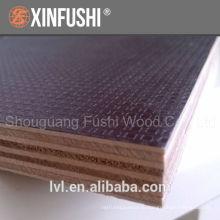 Водонепроницаемая доска противоскользящая 12мм коричневая пленка облицованная опалубка фанерная панель для строительства