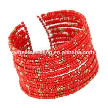 Nuevos productos 2016 joyas multicolores multicolores granos moda bangle base