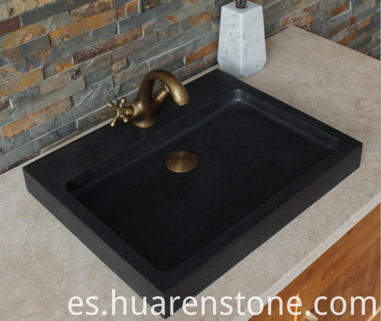 Indian Black granite sink