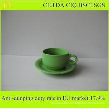 Fábrica de China Venta al por mayor caliente taza de café de cerámica y platillo