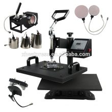Multipurpose combo 8in1 T Shirt Mug Cap Printing Machine