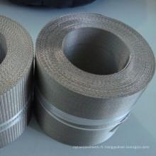 Tissu filtrant de maille d'armure d'armure d'inverse de l'acier inoxydable 304 pour la machine de film d'étirage