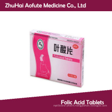 OEM&GMP Certificated Folic Acid Tablets