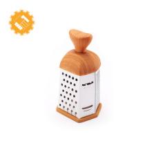 Râpe à fromage et noix de coco, accessoire en acier inoxydable, avec gadget de cuisine à manche en bois