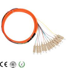 Tresse de fibre optique de haute qualité mm SC / PC 12c