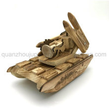 OEM High Quality Wooden Toy Decoration Missile Car Tank