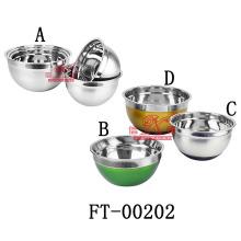Edelstahl rutschsicher Salatschüssel (FT-00202)