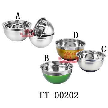Aço inoxidável saladeira antiderrapantes (FT-00202)