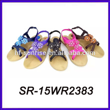 lady beautiful flat sandal flat roman sandal ladies flat sandals