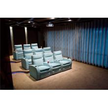 Sofá de sala de estar com conjunto de sofá moderno de couro genuíno (796)