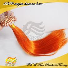 Extensão de cabelo indiano Mirco anel laço laranja