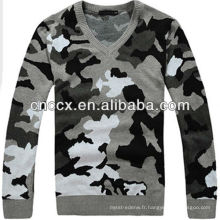12STC0661 v neck hommes chandail militaire