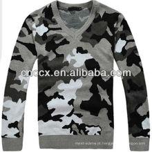 Camisola militar dos homens do pescoço de 12STC0661 v
