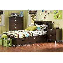 Деревянные дети 3 шт. Комплект для спальни с кроватью, подставкой, ночной подставкой