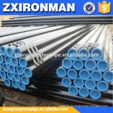 Tuyau de tubes sans soudure en acier noir sch40 astm a106-B/sans soudure en acier tuyaux/noir acier