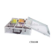 Caso de DVD CD 60 discos (10mm) de aluminio por mayor de China fabricante