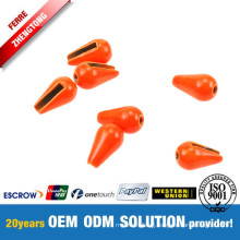 Tungsten Tear Drop Fluo Orange Heavier than Fishing Lead Sinkers