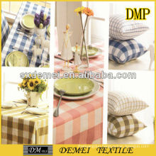 types of woven striped canvas poly cotton fabric