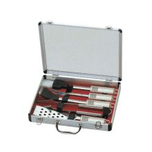 5pcs bbq stainless steel set with aluminum box