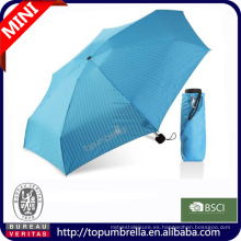 2014 nueva venta caliente súper mini 5 paraguas plegable bolsa