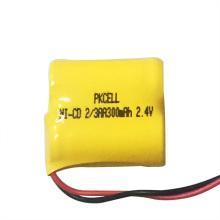 Bloco recarregável da bateria do Cd AA300mAh 2.4V do Ni com cabo e conector