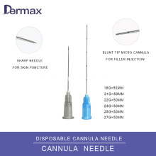 Micro Blunt Cannula untuk Injectable Dermal Fillers
