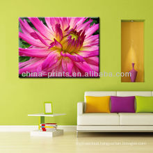 Stretched Flower Painting On Canvas For Decor