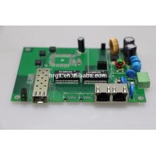 Tablero de PCB / placas de pcb en blanco interruptor de POE industrial Puerto Gigabit de 2 poe con 1 puerto sfp