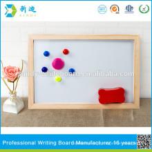 Crianças pequeno suporte magnético whiteboard com moldura de madeira