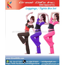Custom women sexy yoga sports bra and leggings / tights