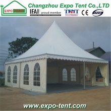 10x10m pagoda tent with soft pvc fabric with clear windows