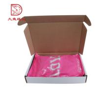 Différents types personnalisés imprimés populaire ondulé en gros boîte d'emballage vêtements