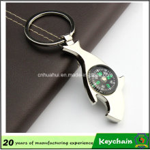 Sharp Compass Opener Keychain